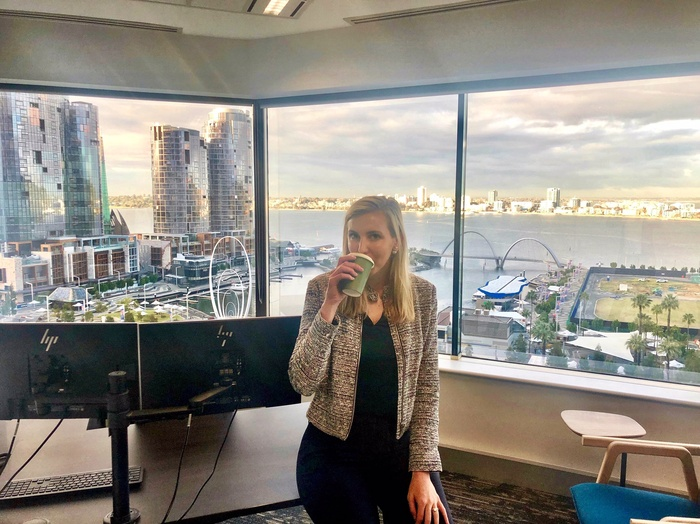 Zumwalt-Forbes in her Perth, Australia office in 2019