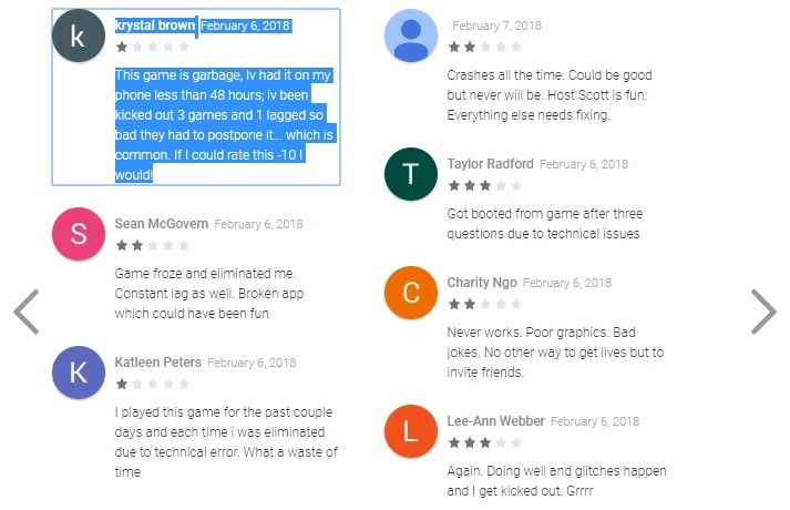 HQ Trivia reviews on Google Play