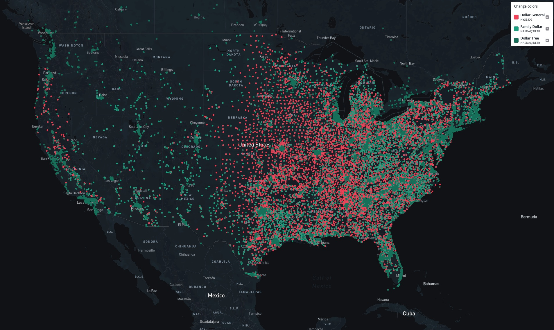 Dollar Stores Take Over America As They Move In On Big Box Territory A Detailed Map And Analysis The Business Of Business